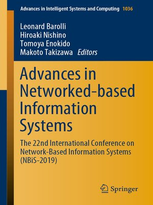 cover image of Advances in Networked-based Information Systems