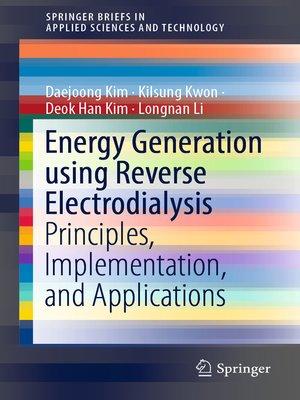 cover image of Energy Generation using Reverse Electrodialysis