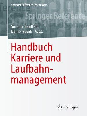 cover image of Handbuch Karriere und Laufbahnmanagement