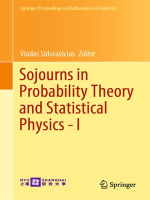 cover image of Sojourns in Probability Theory and Statistical Physics--I