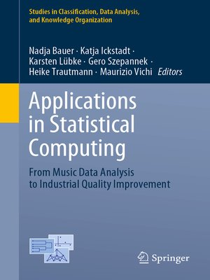 cover image of Applications in Statistical Computing