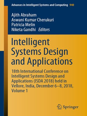 cover image of Intelligent Systems Design and Applications