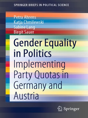cover image of Gender Equality in Politics