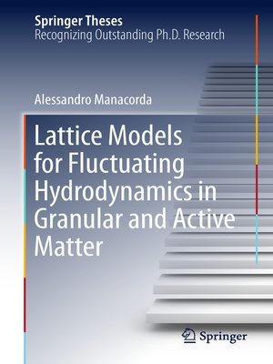 cover image of Lattice Models for Fluctuating Hydrodynamics in Granular and Active Matter