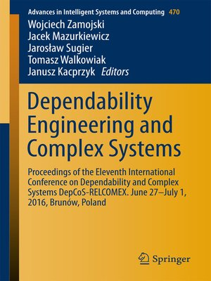 cover image of Dependability Engineering and Complex Systems