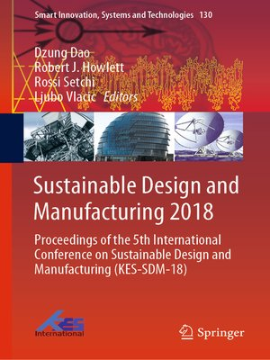 cover image of Sustainable Design and Manufacturing 2018