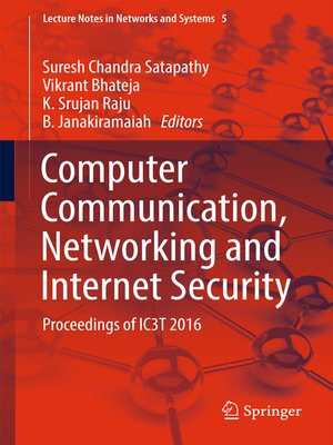 cover image of Computer Communication, Networking and Internet Security