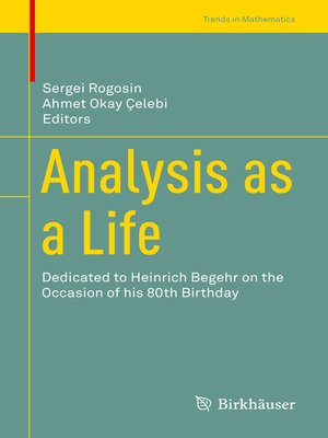 cover image of Analysis as a Life
