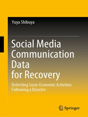cover image of Social Media Communication Data for Recovery