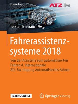 cover image of Fahrerassistenzsysteme 2018