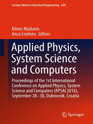 cover image of Applied Physics, System Science and Computers