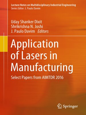 cover image of Application of Lasers in Manufacturing
