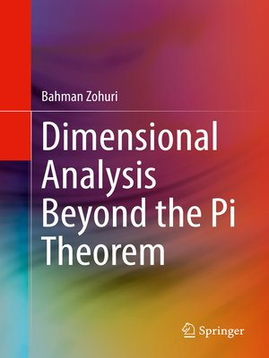cover image of Dimensional Analysis Beyond the Pi Theorem