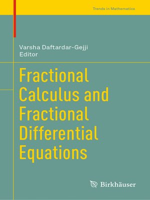 cover image of Fractional Calculus and Fractional Differential Equations