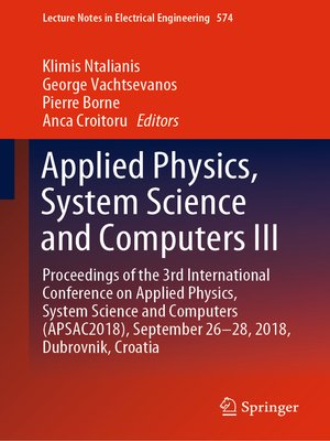 cover image of Applied Physics, System Science and Computers III