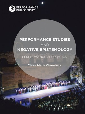 cover image of Performance Studies and Negative Epistemology