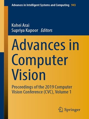 cover image of Advances in Computer Vision