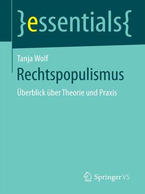 cover image of Rechtspopulismus
