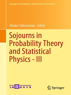 cover image of Sojourns in Probability Theory and Statistical Physics--III