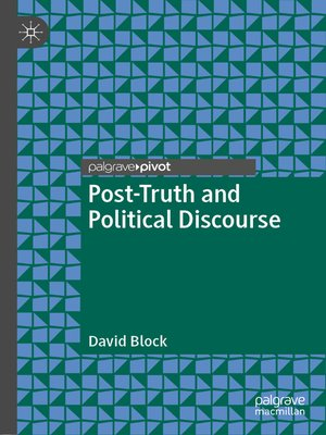cover image of Post-Truth and Political Discourse