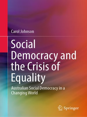cover image of Social Democracy and the Crisis of Equality