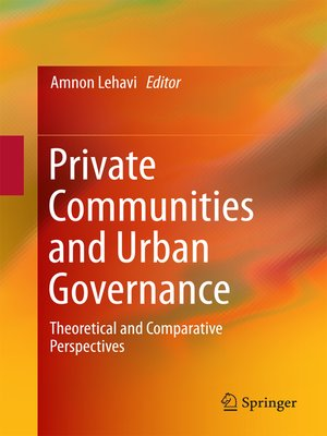 cover image of Private Communities and Urban Governance