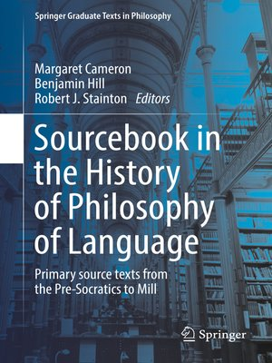 cover image of Sourcebook in the History of Philosophy of Language