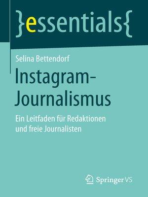 cover image of Instagram-Journalismus