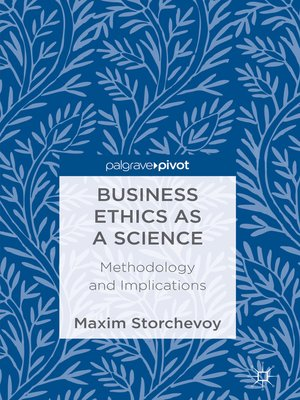 cover image of Business Ethics as a Science