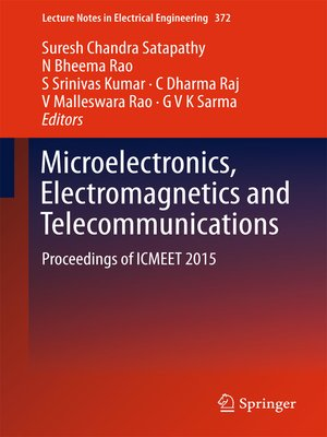 cover image of Microelectronics, Electromagnetics and Telecommunications
