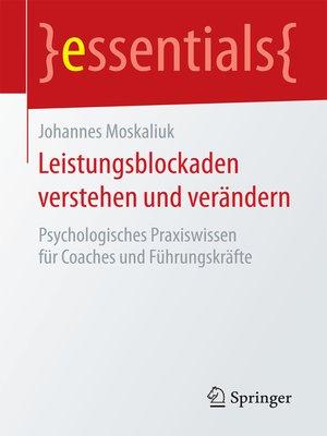 cover image of Leistungsblockaden verstehen und verändern