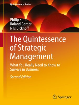 cover image of The Quintessence of Strategic Management