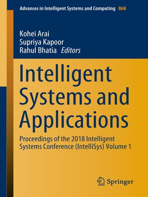 cover image of Intelligent Systems and Applications