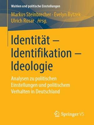 cover image of Identität--Identifikation--Ideologie