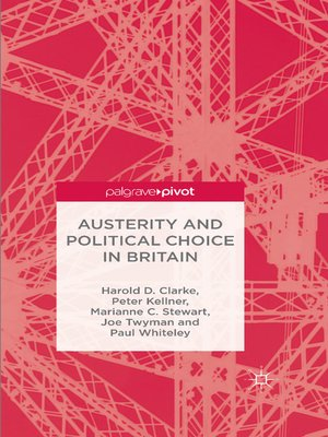 cover image of Austerity and Political Choice in Britain