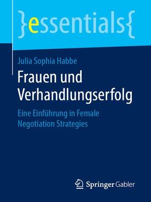 cover image of Frauen und Verhandlungserfolg