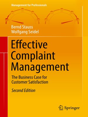 cover image of Effective Complaint Management