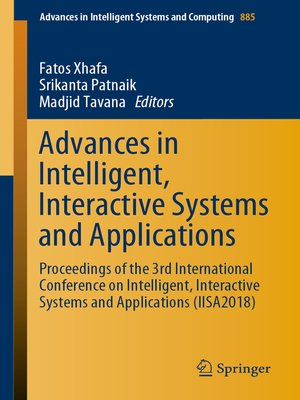 cover image of Advances in Intelligent, Interactive Systems and Applications