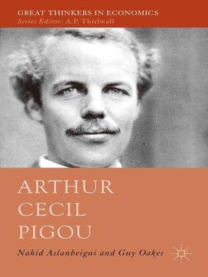 cover image of Arthur Cecil Pigou