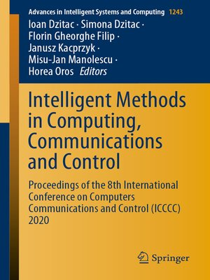 cover image of Intelligent Methods in Computing, Communications and Control