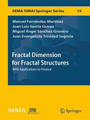 cover image of Fractal Dimension for Fractal Structures