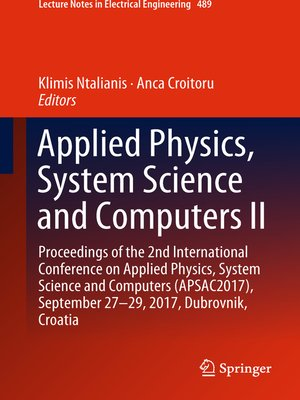 cover image of Applied Physics, System Science and Computers II