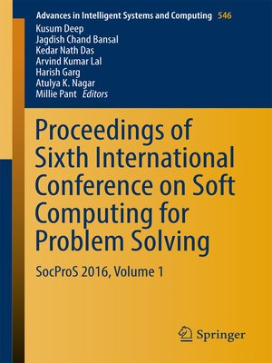 cover image of Proceedings of Sixth International Conference on Soft Computing for Problem Solving