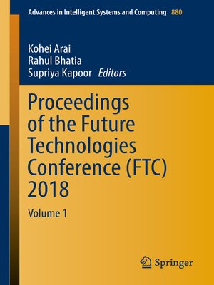 cover image of Proceedings of the Future Technologies Conference (FTC) 2018