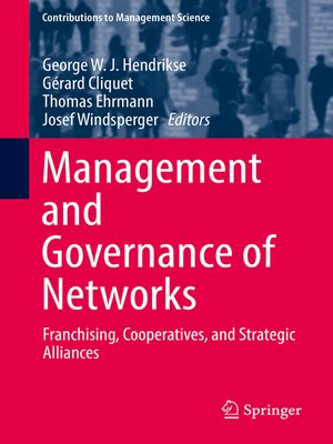 cover image of Management and Governance of Networks