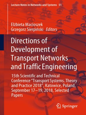 cover image of Directions of Development of Transport Networks and Traffic Engineering