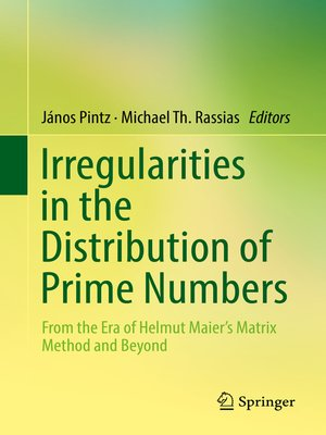 cover image of Irregularities in the Distribution of Prime Numbers