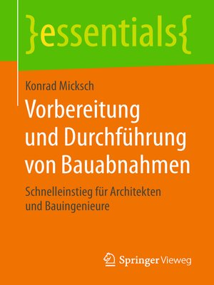cover image of Vorbereitung und Durchführung von Bauabnahmen