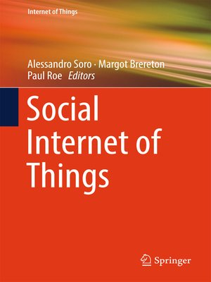 cover image of Social Internet of Things