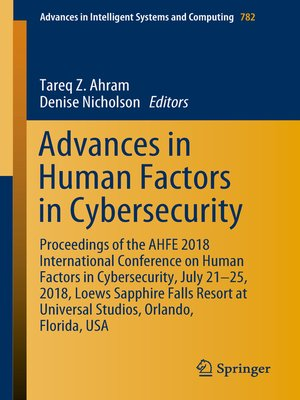 cover image of Advances in Human Factors in Cybersecurity